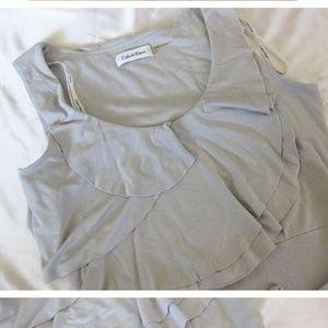 Calvin Klein grey maxi dress